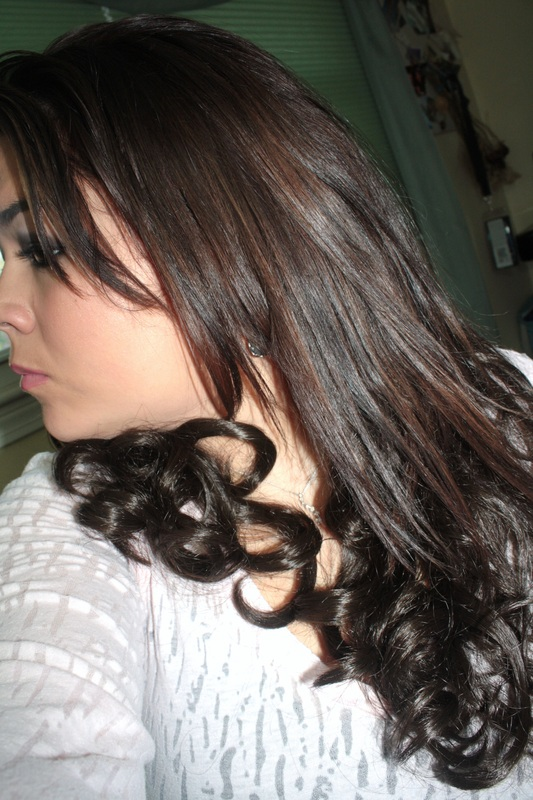23 wavy clip in hair extensions by jessica simpson beauty marks this is with them on and the top half of my hair straight so you can see the few inches i gained from these pmusecretfo Gallery